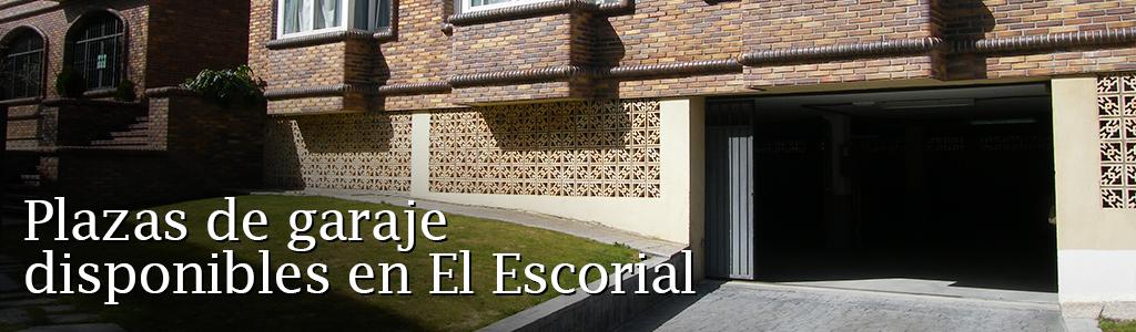Alquiler de plazas de garaje en El Escorial